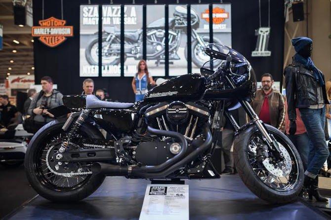A Harley épített versenygépe is a Budapest Motor Show-n debütált