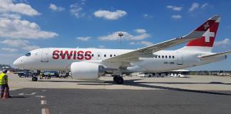 Bemutatkozott Budapesten a SWISS vadonatúj repülőgépe