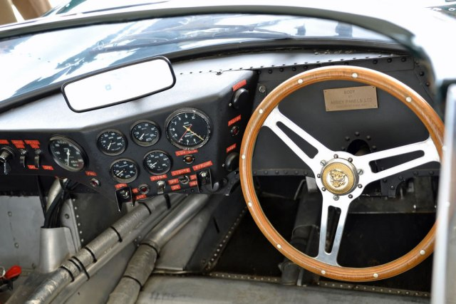 The XJ13's interior after restoration.