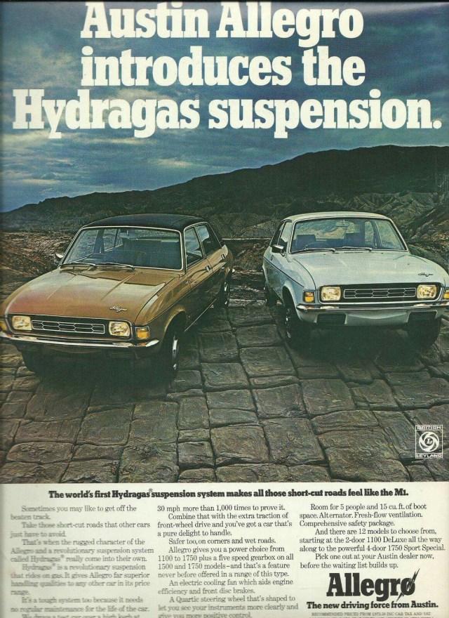 allegro hydragas suspension