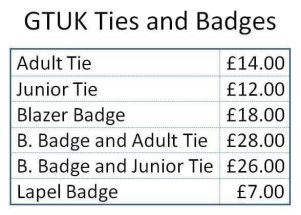 GTUK Badges & Ties