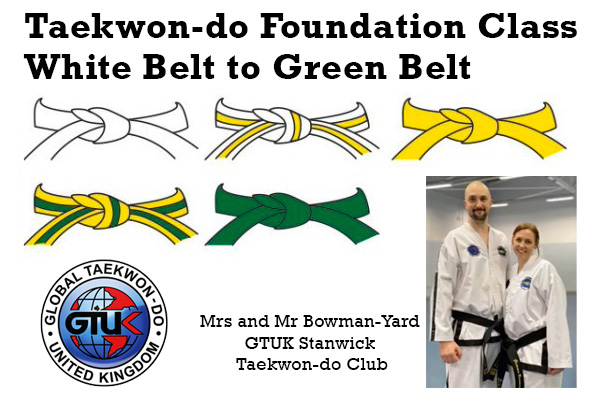 Taekwondo-Foundation-Class-White-Belt-to-Green-Belt