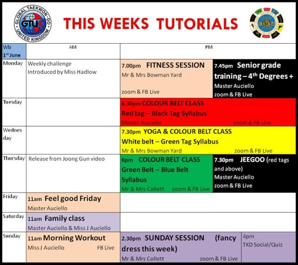 Distance Training Schedule