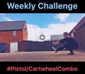 Pistol/Cartwheel Combo Challenge!