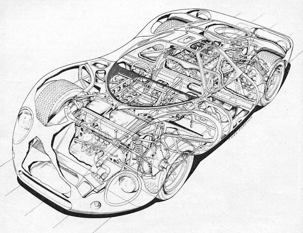 Gt40 Cutaway Drawings