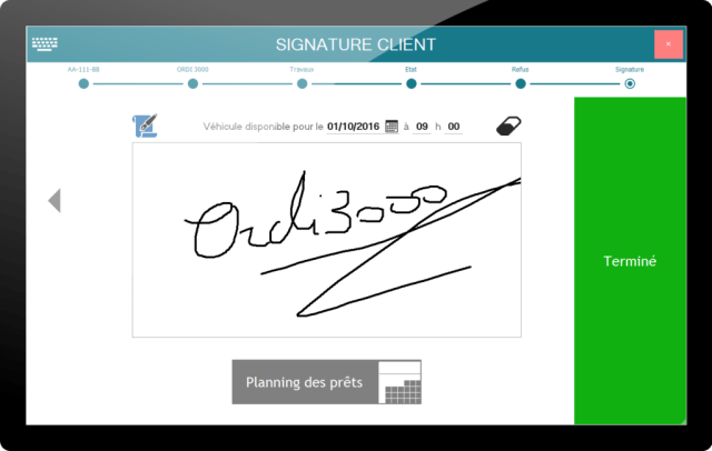 Restitution - Signature