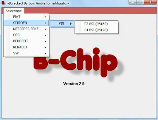 Code PIN IMMO Calculator software 2 57 38
