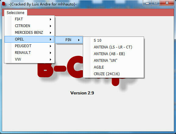 Code PIN IMMO Calculator software 4 57 42