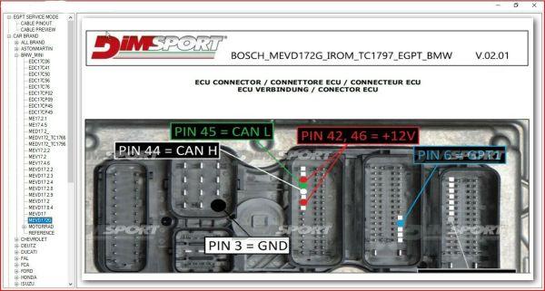 BOSCH MEDC17 ECU PIN OUT SOFTWARE 2021 3 57 60