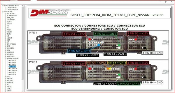 BOSCH MEDC17 ECU PIN OUT SOFTWARE 2021 4 57 61