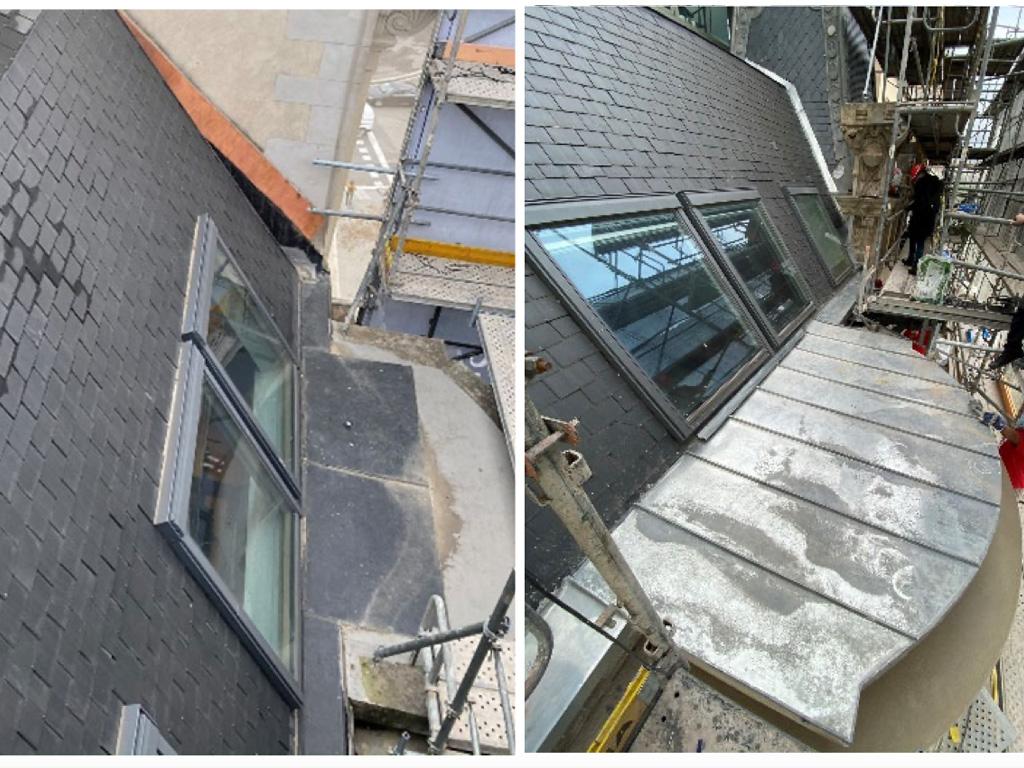 rehabilitación cubierta bajo ventana zinc