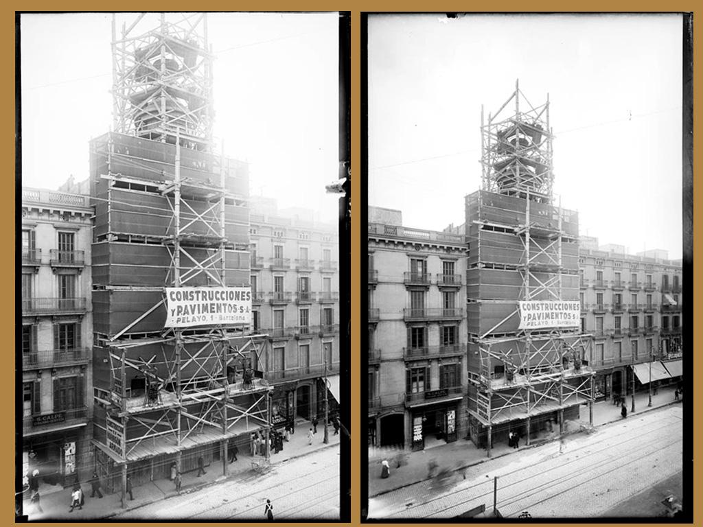Andamios de madera 1915