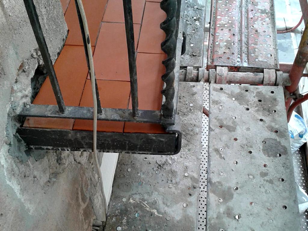 Fachada barroca balcones