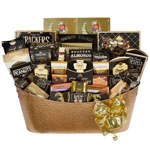 Golden Luxury Gourmet Basket