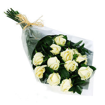Dozen White Roses, rose bouquet, Toronto florists