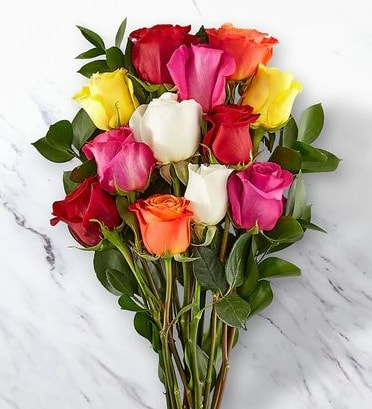 Dozen Roses bouquet,