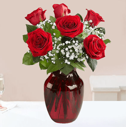 red rose fancy bouquet, Red roses, Rose flowers