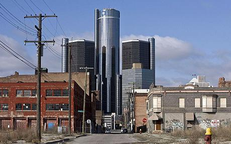 The headquarters of General Motors Corp. stands in Detroit, Michigan, U.S., on Monday, March 30, 2009. U.S. President Barack Obama's administration forced GM Chief Executive Officer Rick Wagoner to resign after concluding the Detroit-based automaker hadn't done enough to prove it can survive amid the worst U.S. auto market in 27 years. Photographer: Jeffrey Sauger/Bloomberg News