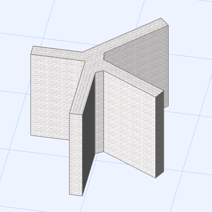 Wall intersection issue/ control of - creative use of the Polygonal Wall (5/5)