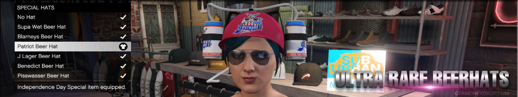 Grand Theft Auto Online rare beer hats unlocked