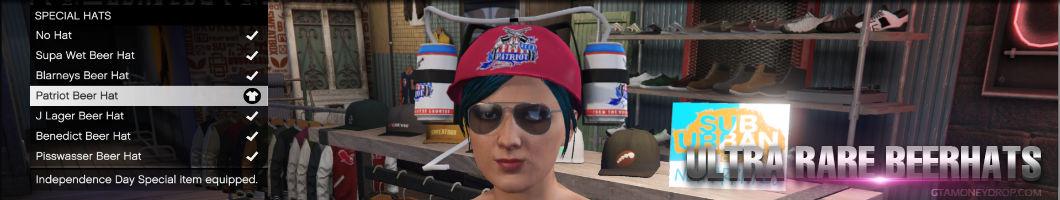 Grand Theft Auto Online rare beer hats unlocked