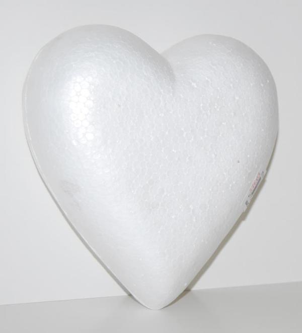 Inimă polistiren 15,00 x 11,5 x 5,00cm