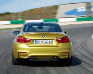 2015 BMW M4 Coupe Test Rear View
