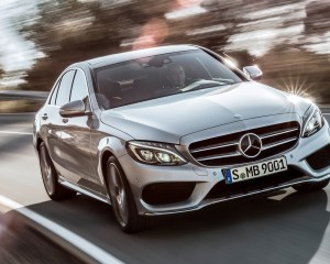 2015 Mercedes-Benz C-Class Front View in the Road