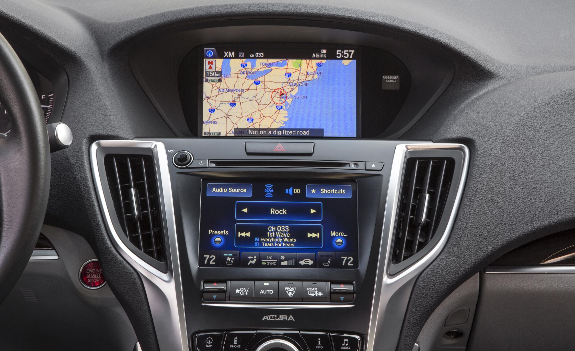 2015 Acura TLX 3.5L SH-AWD Interior Center Head Unit
