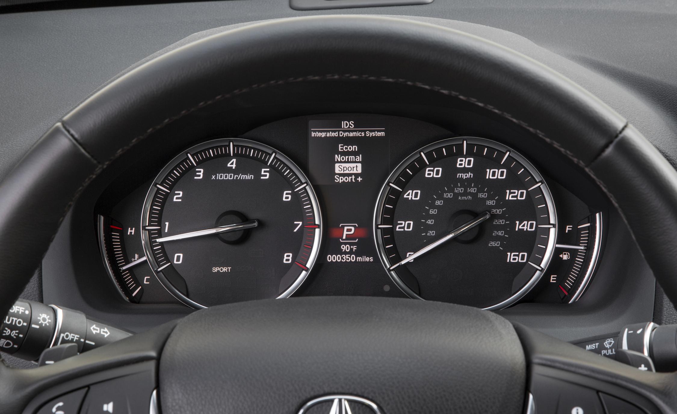 2015 Acura TLX 3.5L SH-AWD Interior Speedometer