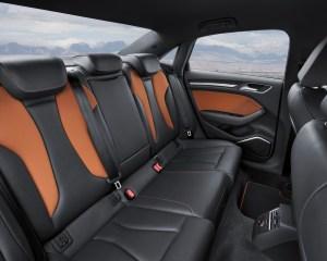 2015 Audi S3 Sedan Rear Seats Interior
