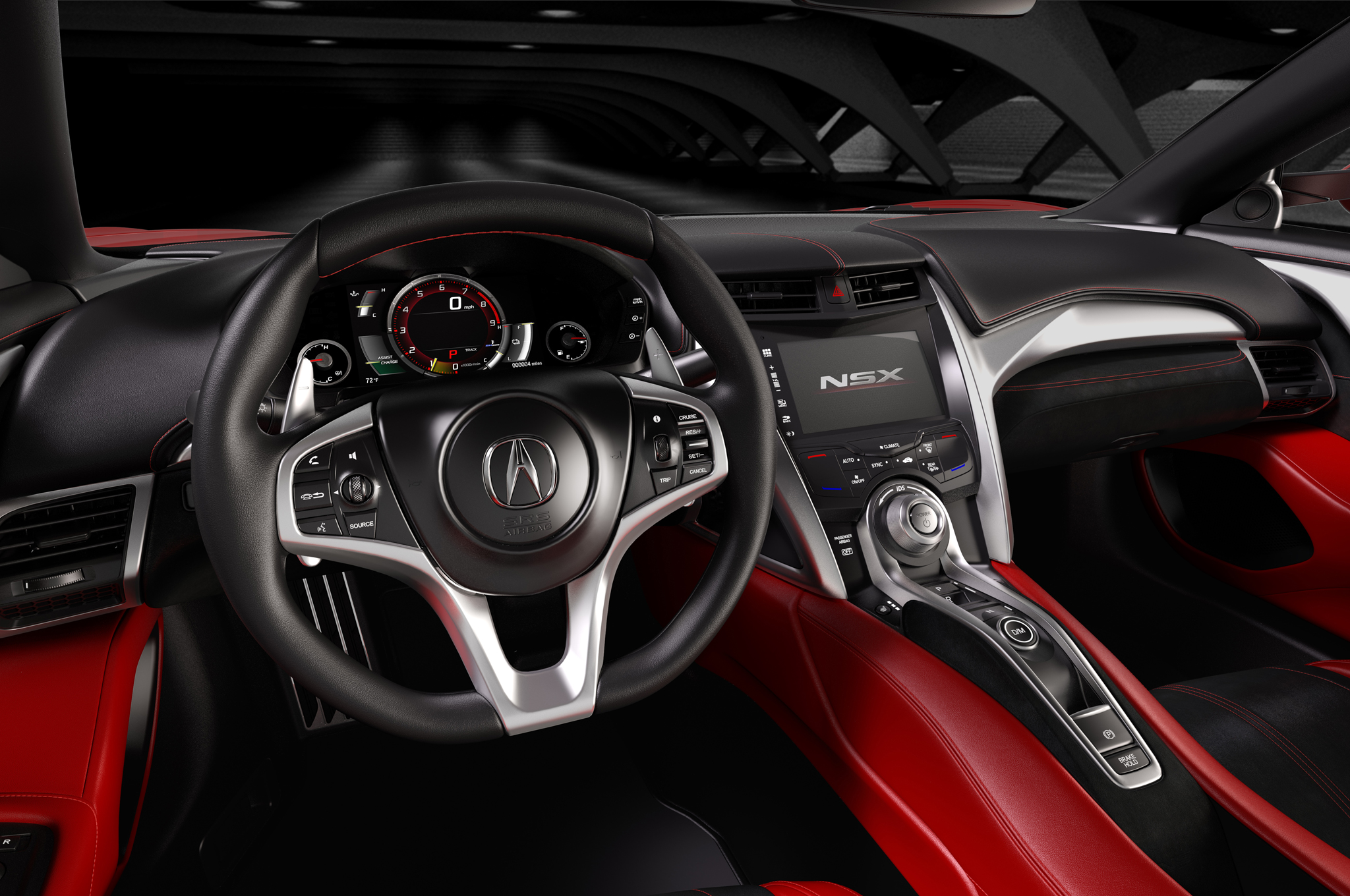 2016 Acura NSX Cockpit and Speedometer