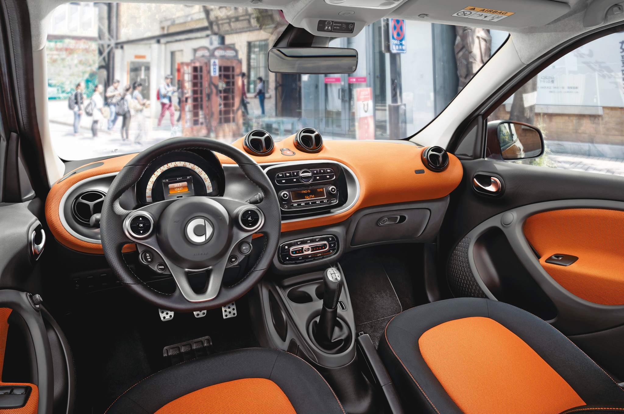 2016 Smart Fortwo Interior and Dashboard
