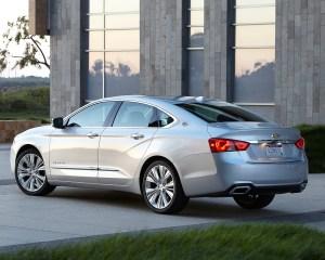 2016 Chevrolet Impala Silver Rear Side Angle