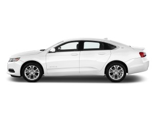 Chevrolet Impala White Side View