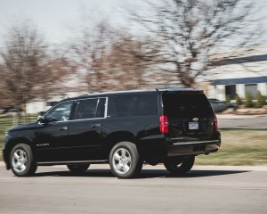 2015 Chevrolet Suburban LTZ Test Side and Rear View