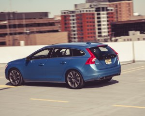 2015 Volvo V60 Test Rear and Side View