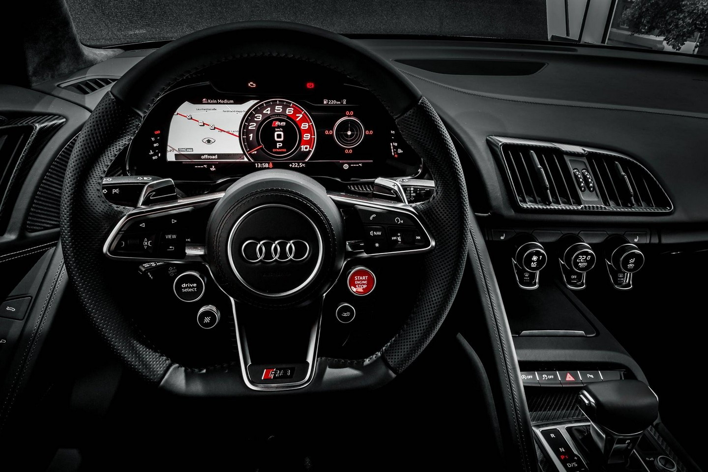 2016 Audi R8 V10 Plus Cockpit and Speedometer