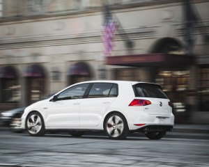 Side and Rear View Volkswagen GTI 2015
