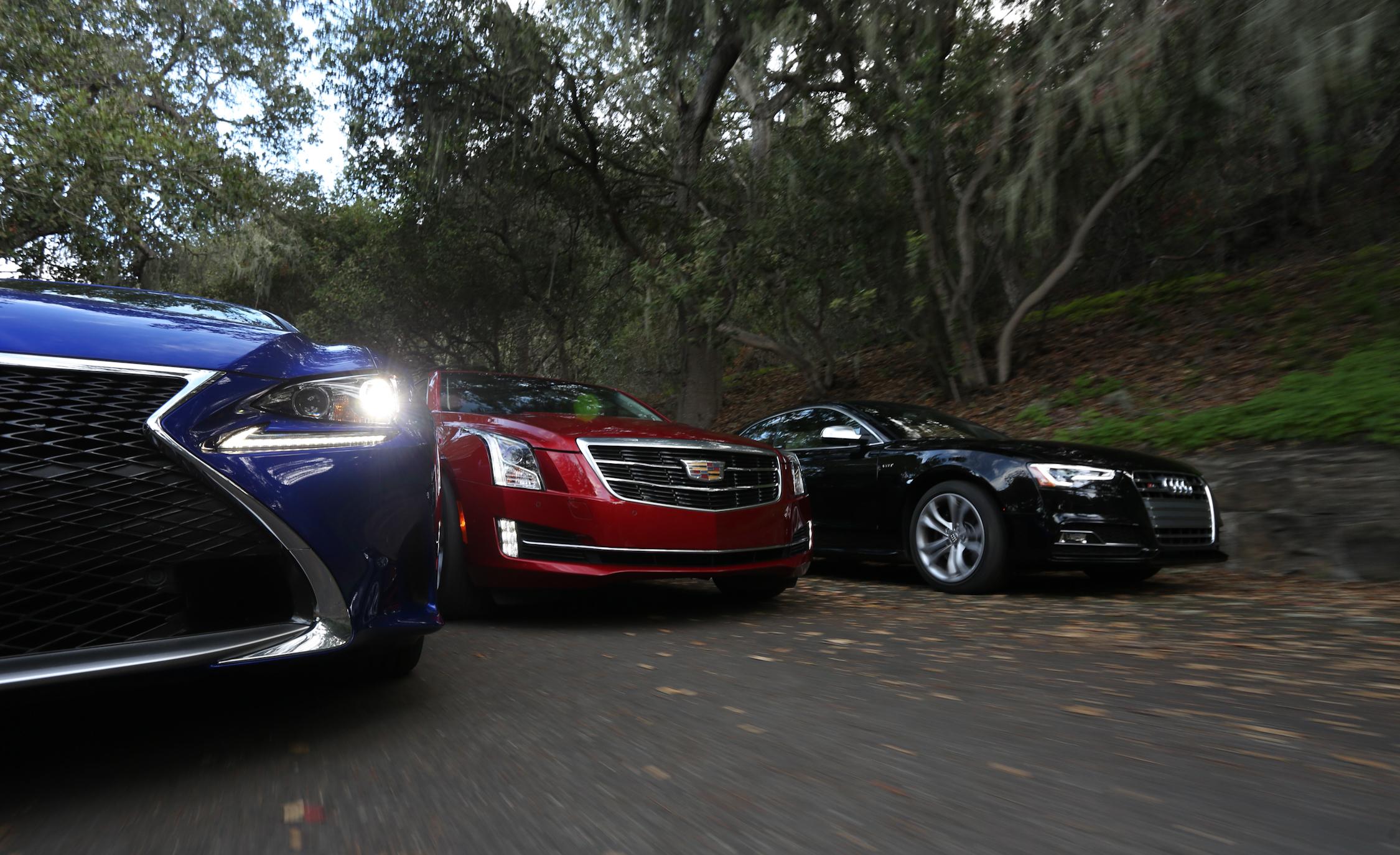 2015 Audi S5 vs 2015 Cadillac ATS Coupe 3.6 vs 2015 Lexus RC350 F