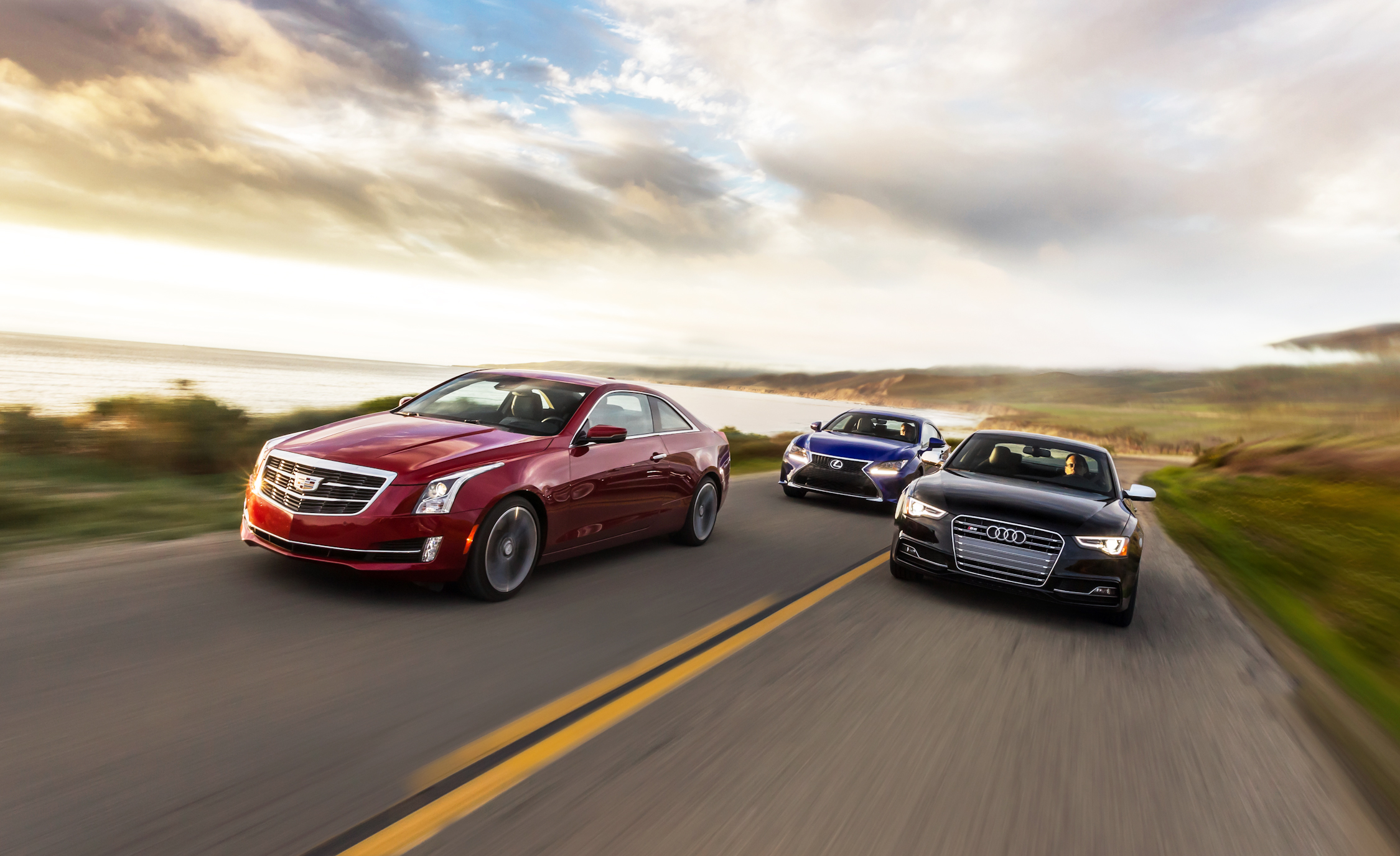 2015 Cadillac ATS Coupe 3.6 vs 2015 Lexus RC350 F vs 2015 Audi S5