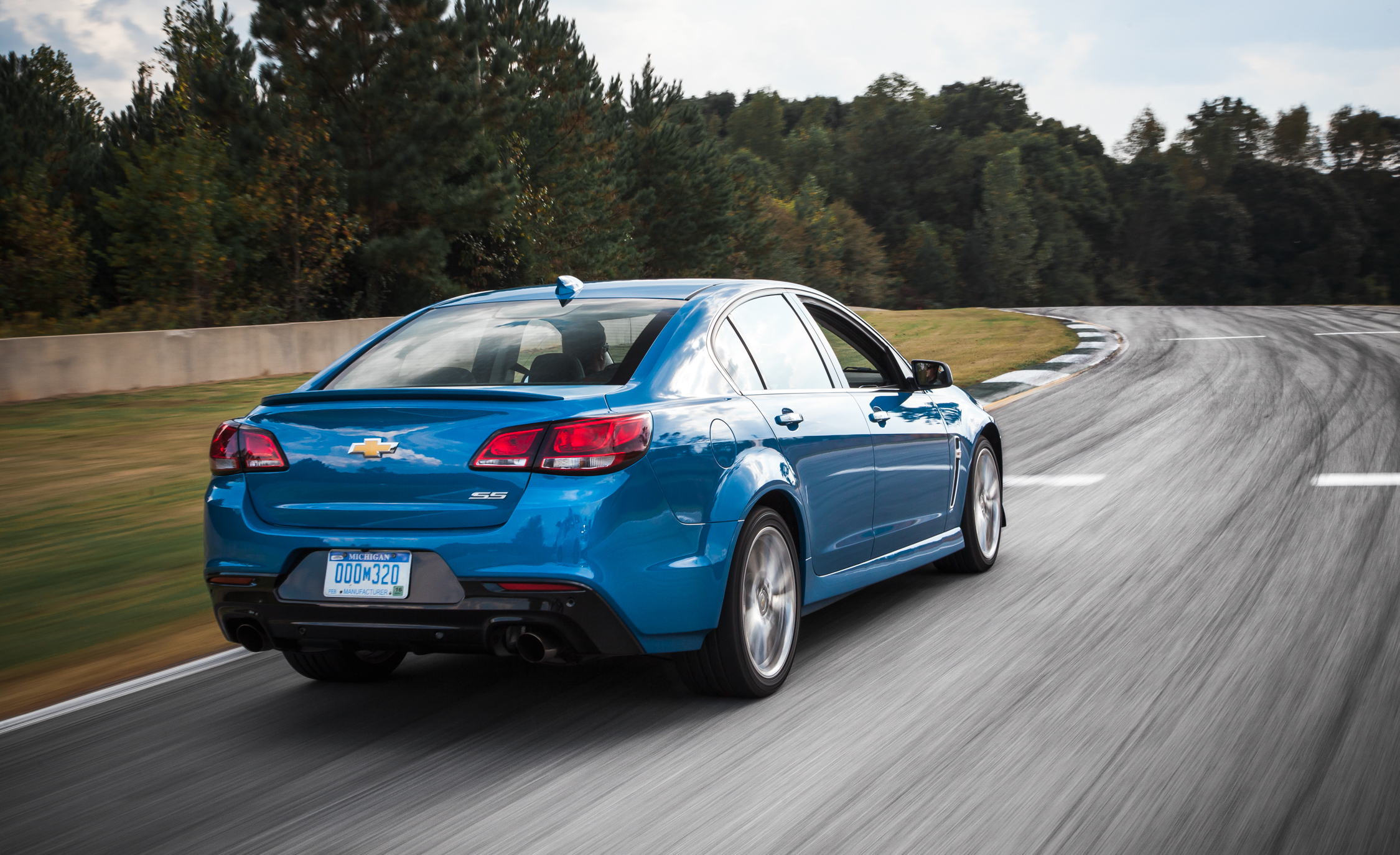 2015 Chevrolet SS Test Rear and Side View