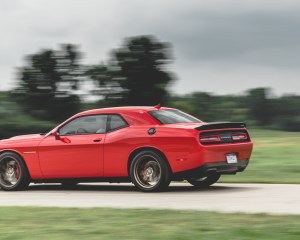 2015 Dodge Challenger SRT Hellcat Test Rear and Side View