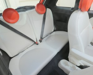 2015 FIAT 500e Interior Rear Seats
