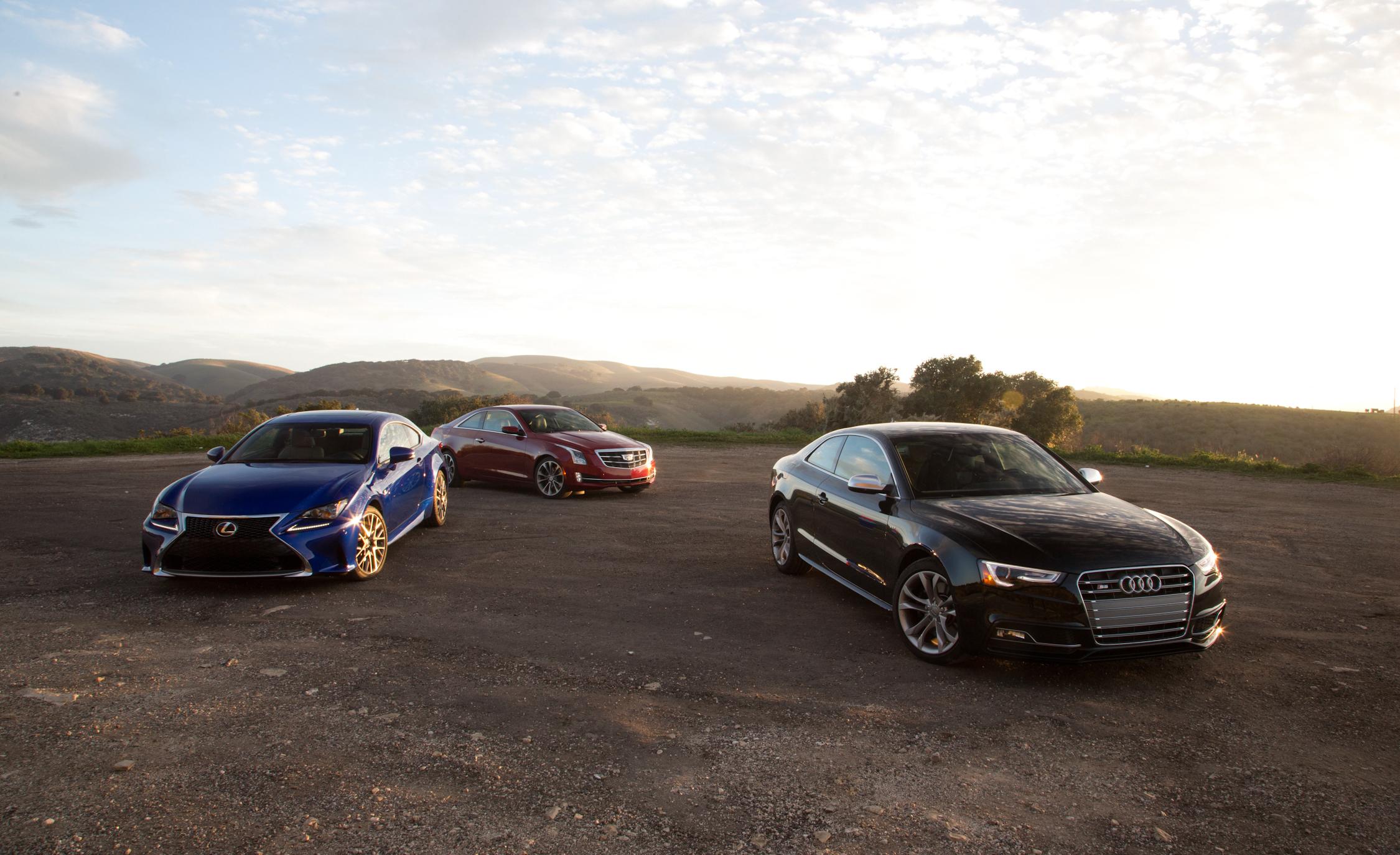 2015 Lexus RC350 F vs 2015 Audi S5 vs 2015 Cadillac ATS Coupe 3.6