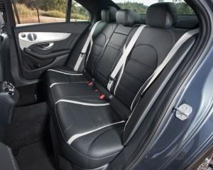 2015 Mercedes-AMG C63 S-Model Rear Seats Interior