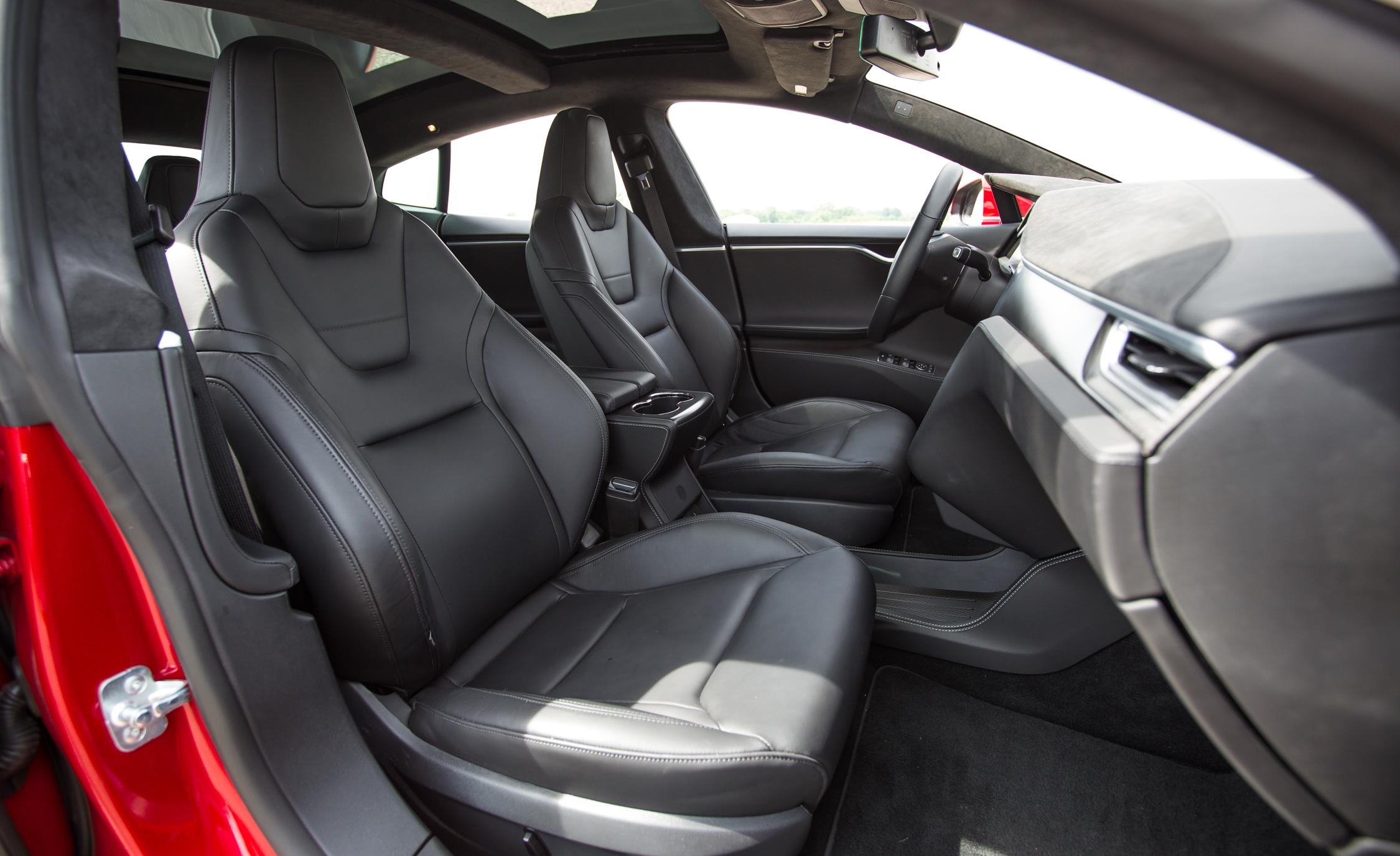 2015 Tesla Model S P85D Front Seats Interior