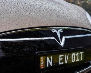 2015 Tesla Model S P85D Grille View