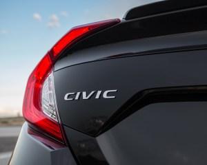 2016 Honda Civic Touring Sedan Black Rear Emblem