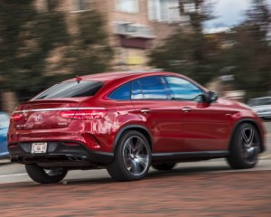 2016 Mercedes-Benz GLE450 AMG Coupe Test Rear Side View